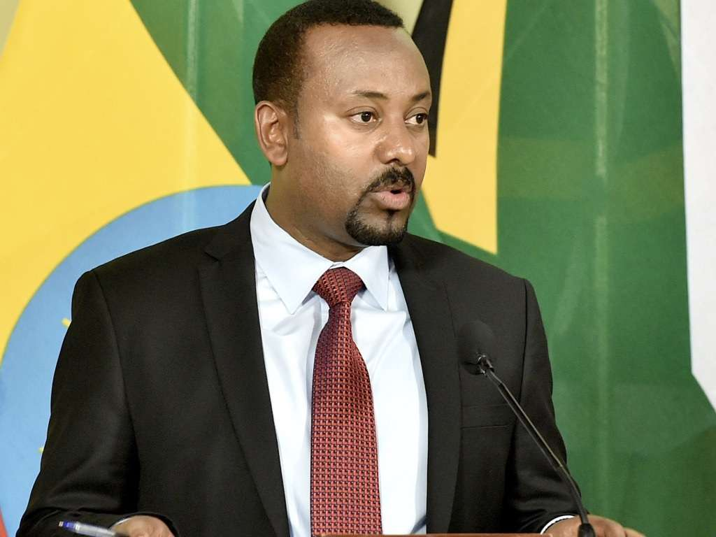 Prime Minister Abiy Ahmed Ali address the media briefing at the conclusion of the Official Visit by the Federal Democratic Republic of Ethiopia at the Union Buildings in Tshwane. January 12